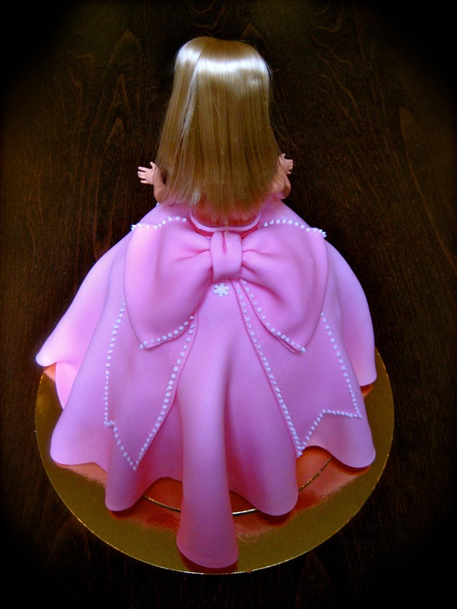 Barbie Princess Cake back view