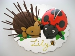 Hedgehog and Ladybird Chocolate Cakes