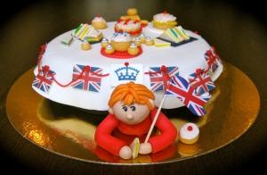 Diamond Jubilee Tea Party Cake