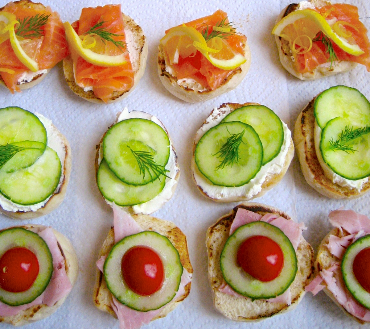 A Selection of Muffin Sandwiches