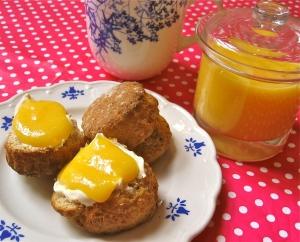 Lemon Curd, Scones and Clotted Cream Tea