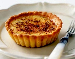 Custard Tart with a hint of nutmeg