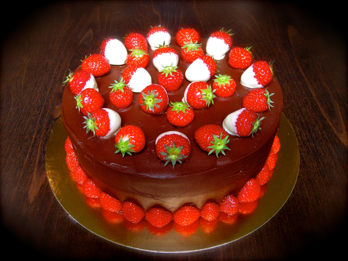 Two Chocolate Strawberry Cake