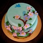 Climbing Flowers Cake