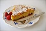 Fresh Raspberry Bakewell Tart detail
