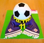 Football and Scarf Cake