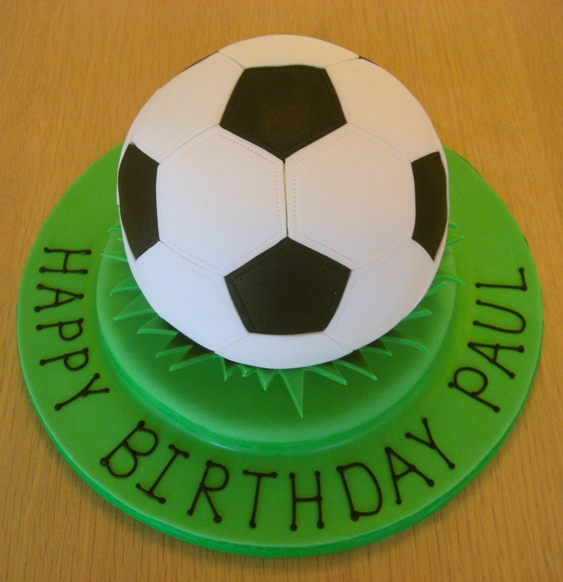 Simple Football Cake