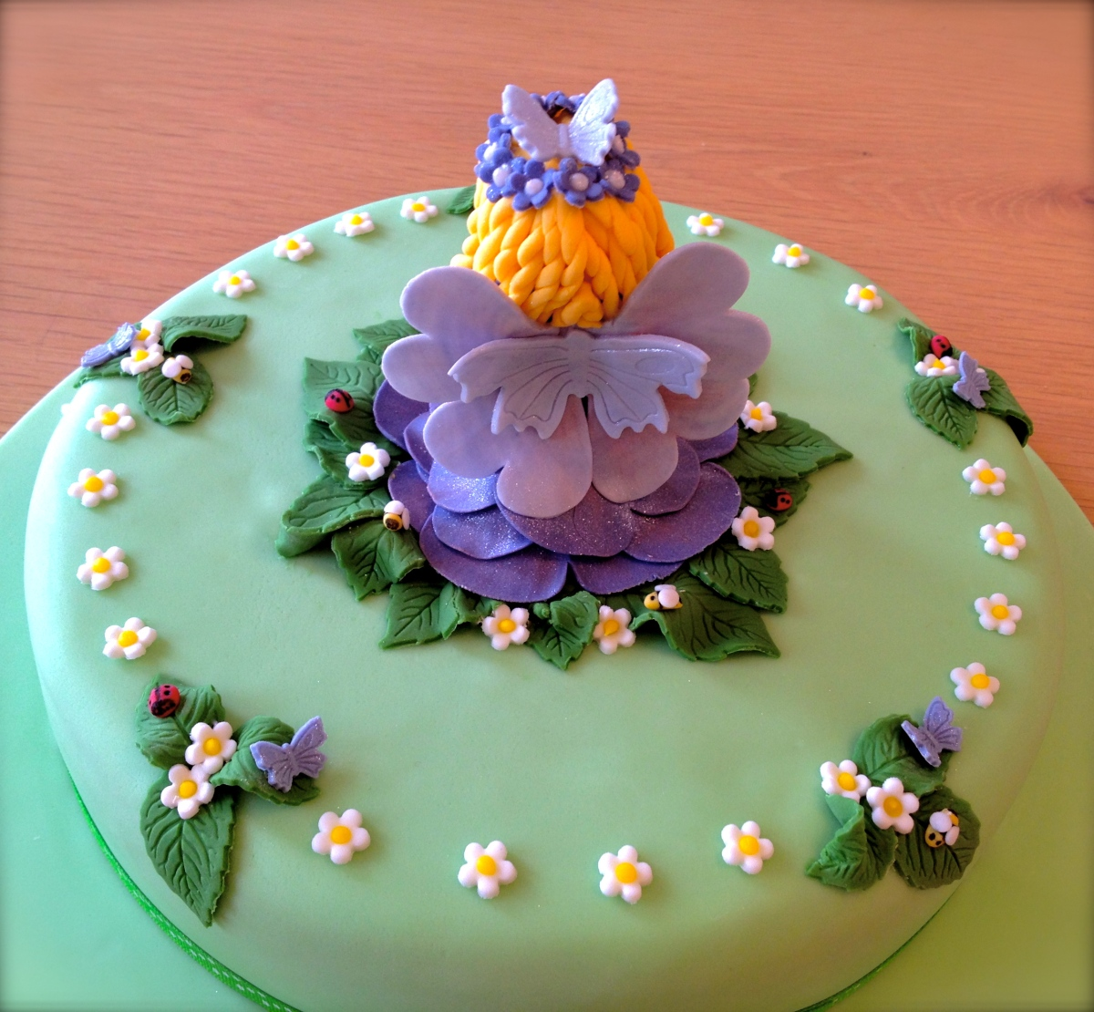 Blue Fairy Cake Back View