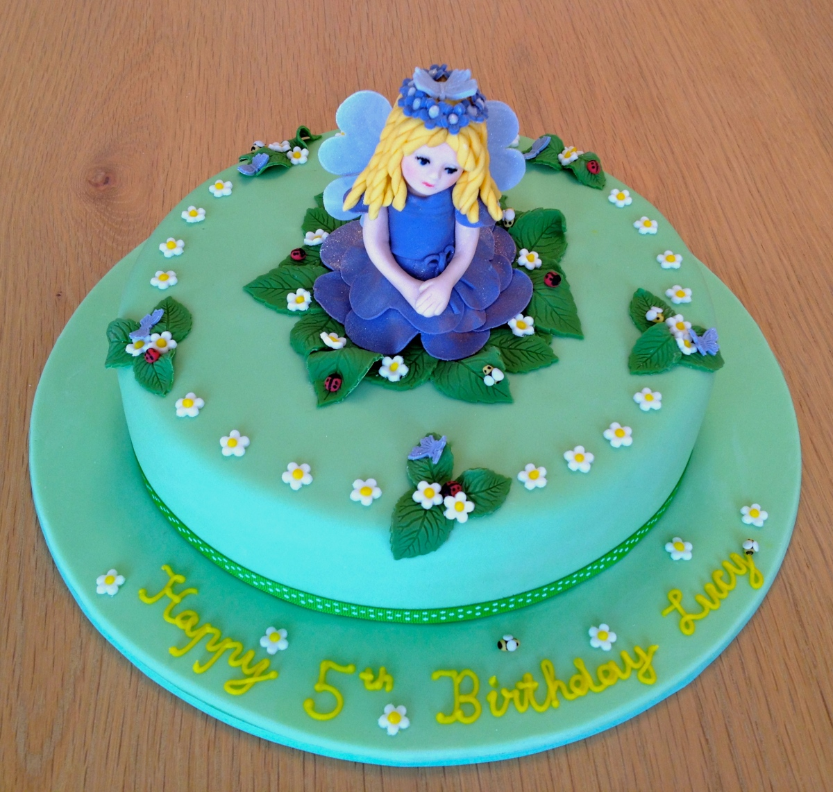 Blue Fairy Cake Front View