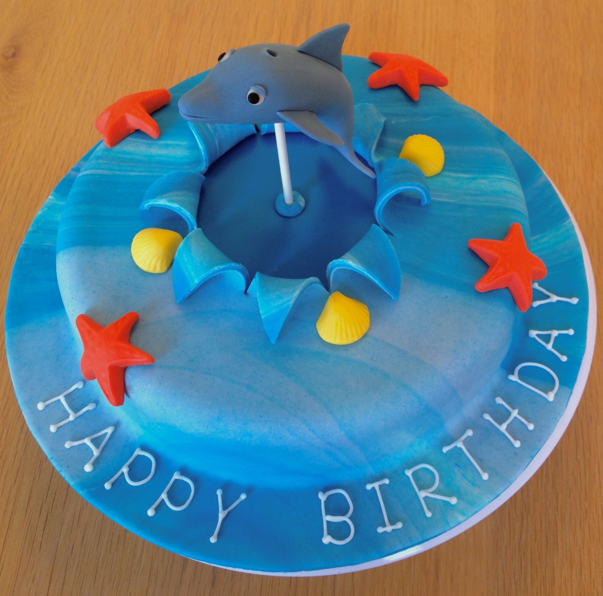 Jumping Dolphin Cake