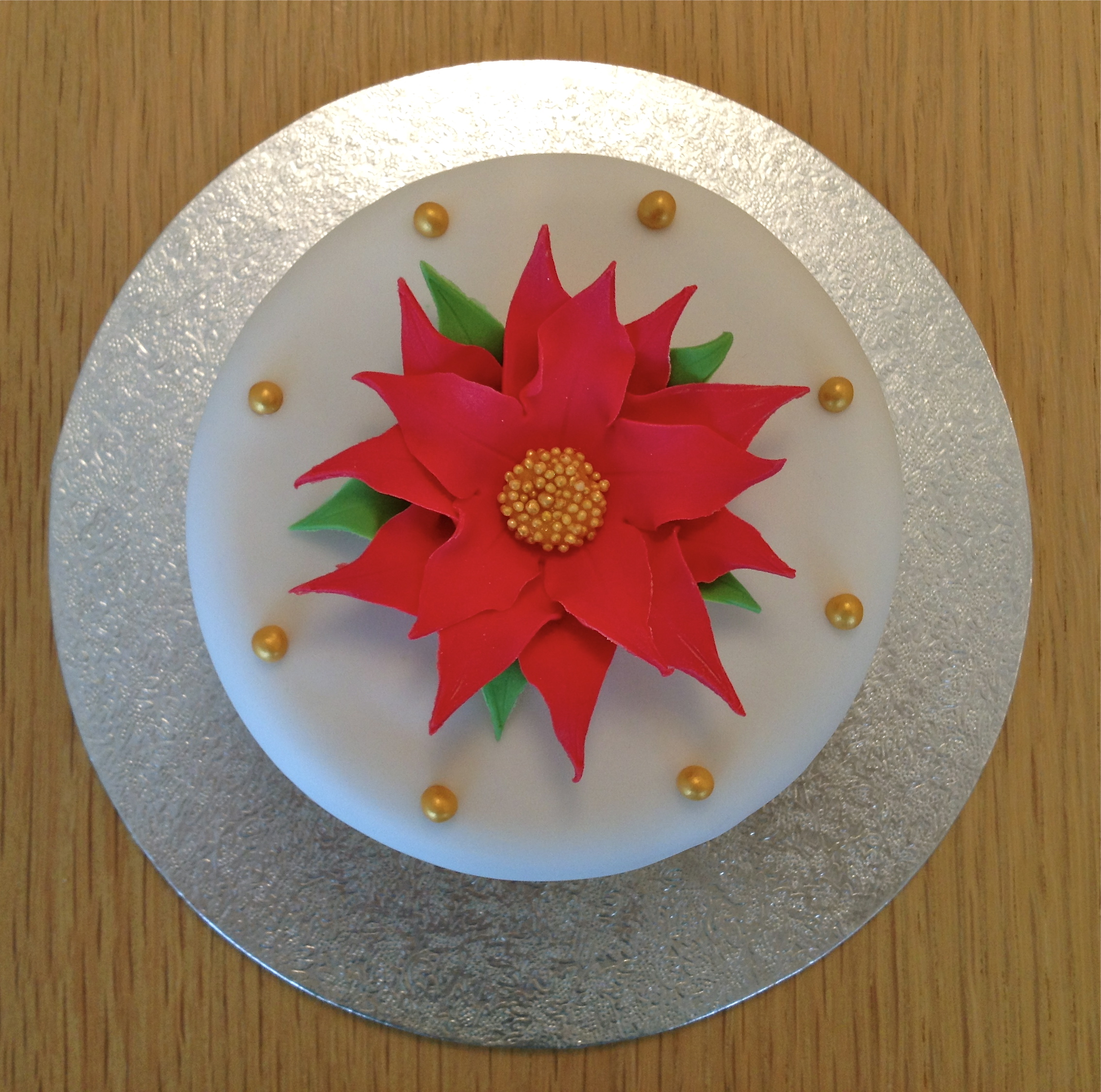 Mini Red Poinsettia Cake