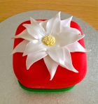 Mini White Poinsettia Cake 2