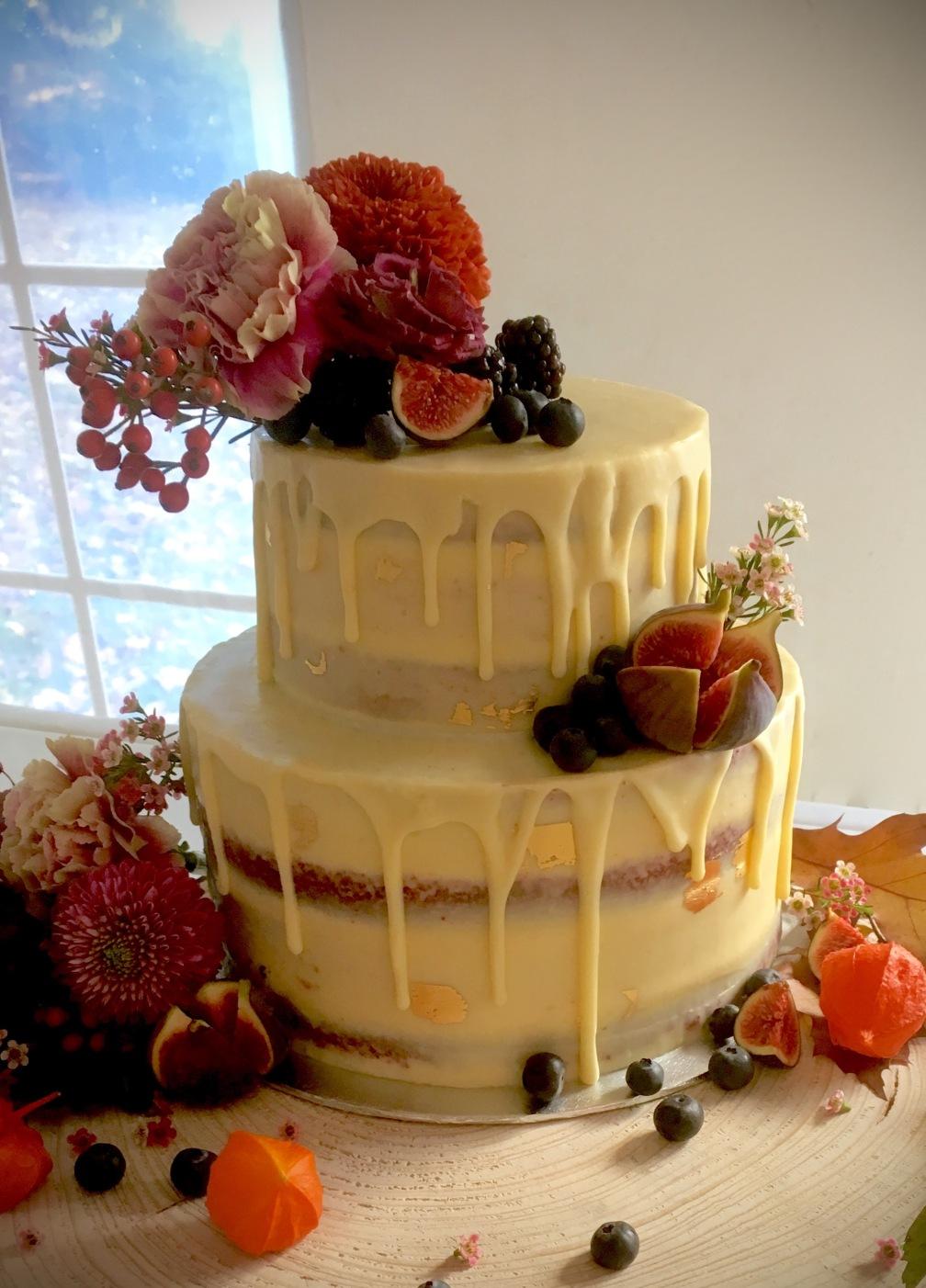 Autumn drip cake