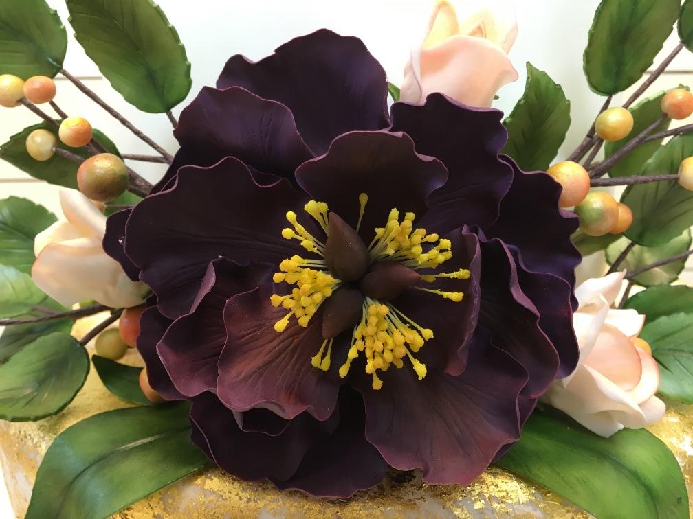 Rose & Purple Peony close up